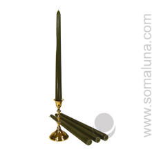 Army Green 12 inch Taper Candle