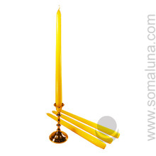 Yellow 12 inch Taper Candle