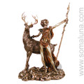 Artemis With Stag, bronze (Diana)
