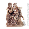 Pan and Psyche Statue, bronze