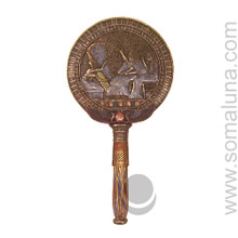 Winged Disk & Musicians Hand Mirror