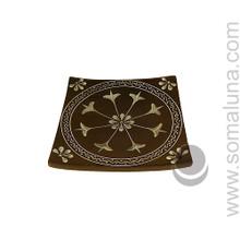 Flower Mandala Stone Candle Plate