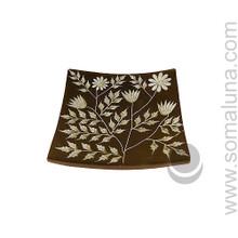 Botanical Stone Candle Plate