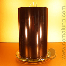 Glass 3-Wick Pillar Candle Holder