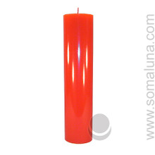 Fire Red 12.5 x 3 Pillar Candle