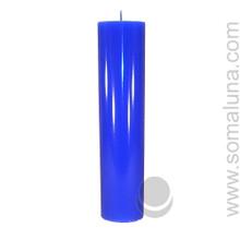 Lapis Blue 12.5 x 3 Pillar Candle