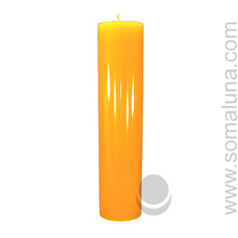 Honey Amber 12.5 x 3 Pillar Candle