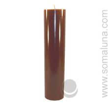 Autumn Brown 12.5 x 3 Pillar Candle