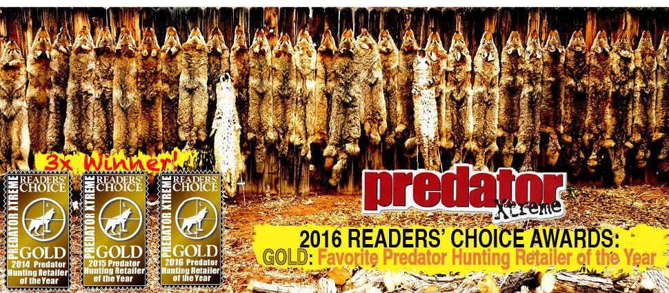 3x Winner of Predator Xtreme readers Choice Award for Favorite Predator Hunting Retailer