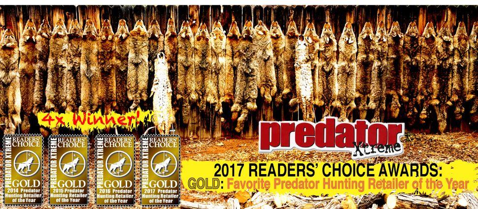 4x Winner of Predator Xtreme readers Choice Award for Favorite Predator Hunting Retailer