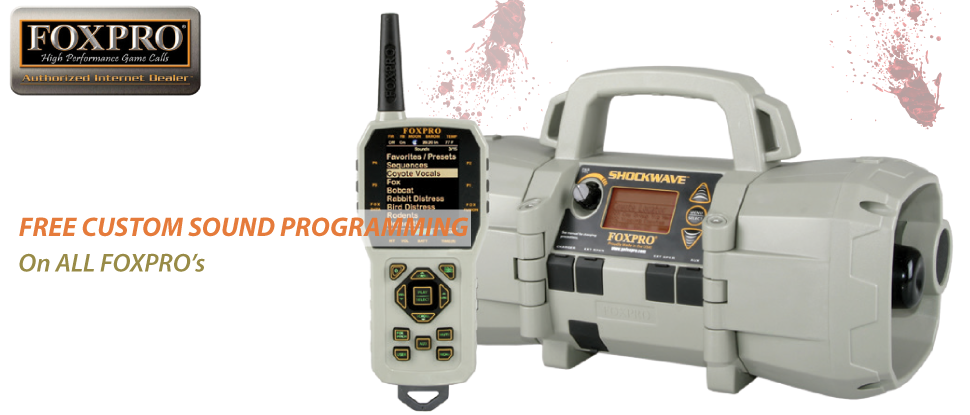 Free custom sound programming on ALL FOXPRO's