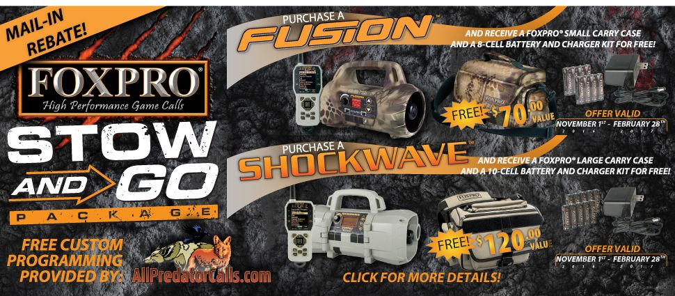 Special Offer! - Mail in rebate for free battery pack and carry case for Fusion and Shockwave callers!