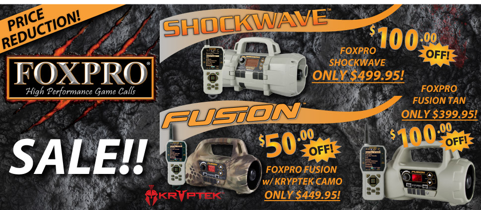 FOXPRO Shockwave and Fusion Sale!