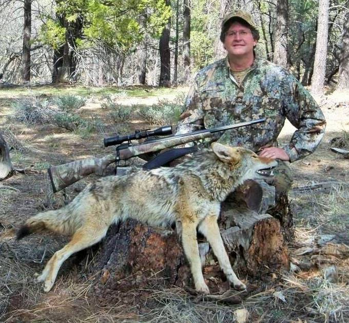 Our founder, AP Jones with Arizona coyote