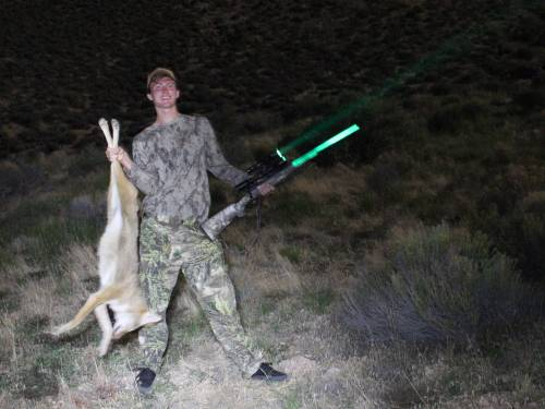 Successful coyote hunt using Wicked Hunting Lights