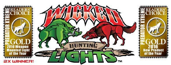 Wicked Hunting Lights PredatorXtreme Magazine Readers Choice GOLD Award Winner 2016