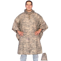Red Rock Outdoors ACU Camo Rain Poncho 1001ACU