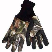 HS Camo Advantage Timber Camo Dot Grip Jersey Gloves 05058