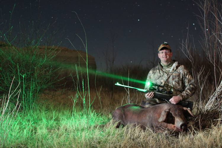 Wicked lights W400.  Scope Mounted Green LED.