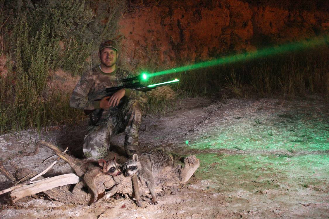 Wicked Hunting lights.  Deadly on Hogs and Predators. Scope Mounted Green LED.
