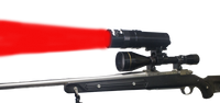 Coyote Light Red LED Adjustable Focus Zoom Beam Long Range Hunting Light