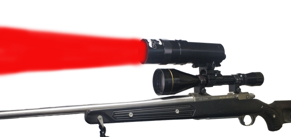 Coyote Light Red LED Adjustable Focus Zoom Beam Long Range Hunting Light