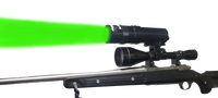 Coyote Light GREEN LED Adjustable Focus Zoom Beam Long Range Hunting Light
