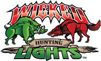 Wicked Hunting Lights Logo Vehicle Window Decal