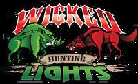 Wicked Hunting Lights Logo Vehicle Window Decal