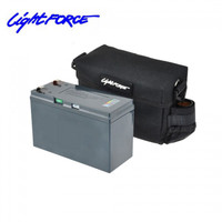 Lightforce 12V Lithium Iron Phosphate LiFePO4 Portable Power Pack with Battery, Charger, and Case BP7LIFEUS