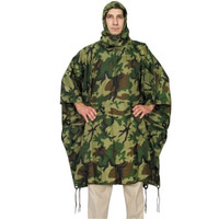 Red Rock Outdoors Woodland Camo Rain Poncho 1001WDL