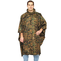 Red Rock Outdoors Digital Woodland Camo Rain Poncho 1001WDD