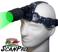 Wicked Lights ScanPro GREEN LED Headlamp for Hog, Coyote, and Predator Night Hunting