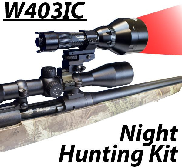 Wicked Lights™ W403-IC Intensity Control Predator & Hog Night Hunting Kit with RED LED