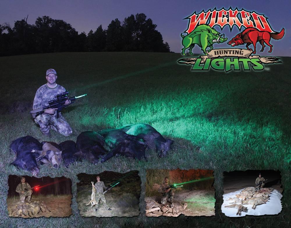 Wicked Lights W403-IC Intensity Control Predator & Hog Night Hunting Kit
