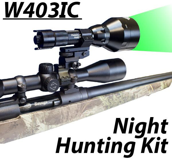 Wicked Lights™ W403-IC Intensity Control Predator & Hog Night Hunting Kit with GREEN LED