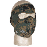 Digital Woodland Camouflage Neoprene Thermal Cold Weather Mask