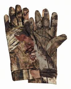 Scent-A-Way® Silver Spandex Unlined Gloves-Mossy Oak® Break-Up Infinity™ 07135