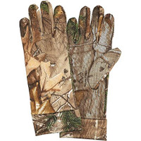 Hunters Specialties Gloves Spandex, Silver Realtree Xtra