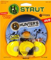 """Hunter's Specialties """"Real Strut Talk"""" DVD and Premium Flex Cutt'n 2.5 Combo Wild Turkey Call 06975"""