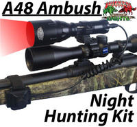 Wicked Lights™ A48 Ambush Light with Intensity Control Predator & Hog Night Hunting Kit with RED LED