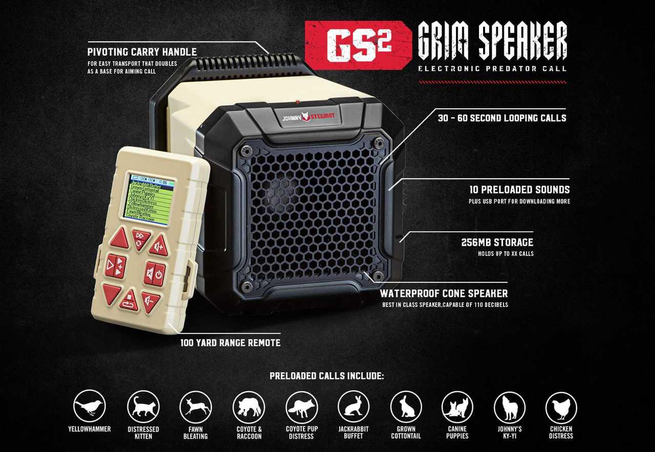 Johnny Stewart GS2 Grim Speaker Electronic Predator Call