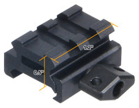 "UTG Low-Profile Super Compact Riser Mount, 0.5"" High, 2 Slots MNT-RS05S2"