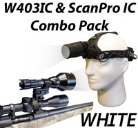 Wicked Lights W403IC and ScanPro IC Night Hunting Light Combo Kit with White LED Thumbnail