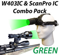 Wicked Lights W403IC and ScanPro IC Night Hunting Light Combo Kit with Green LED Thumbnail