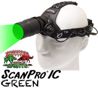 Wicked Lights ScanPro IC Night Hunting Headlamp with Green LED thumbnail