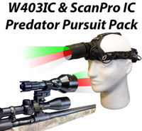 Wicked Lights W403IC and ScanPro IC Predator Pursuit Night Hunting Light Combo Kit Thumbnail