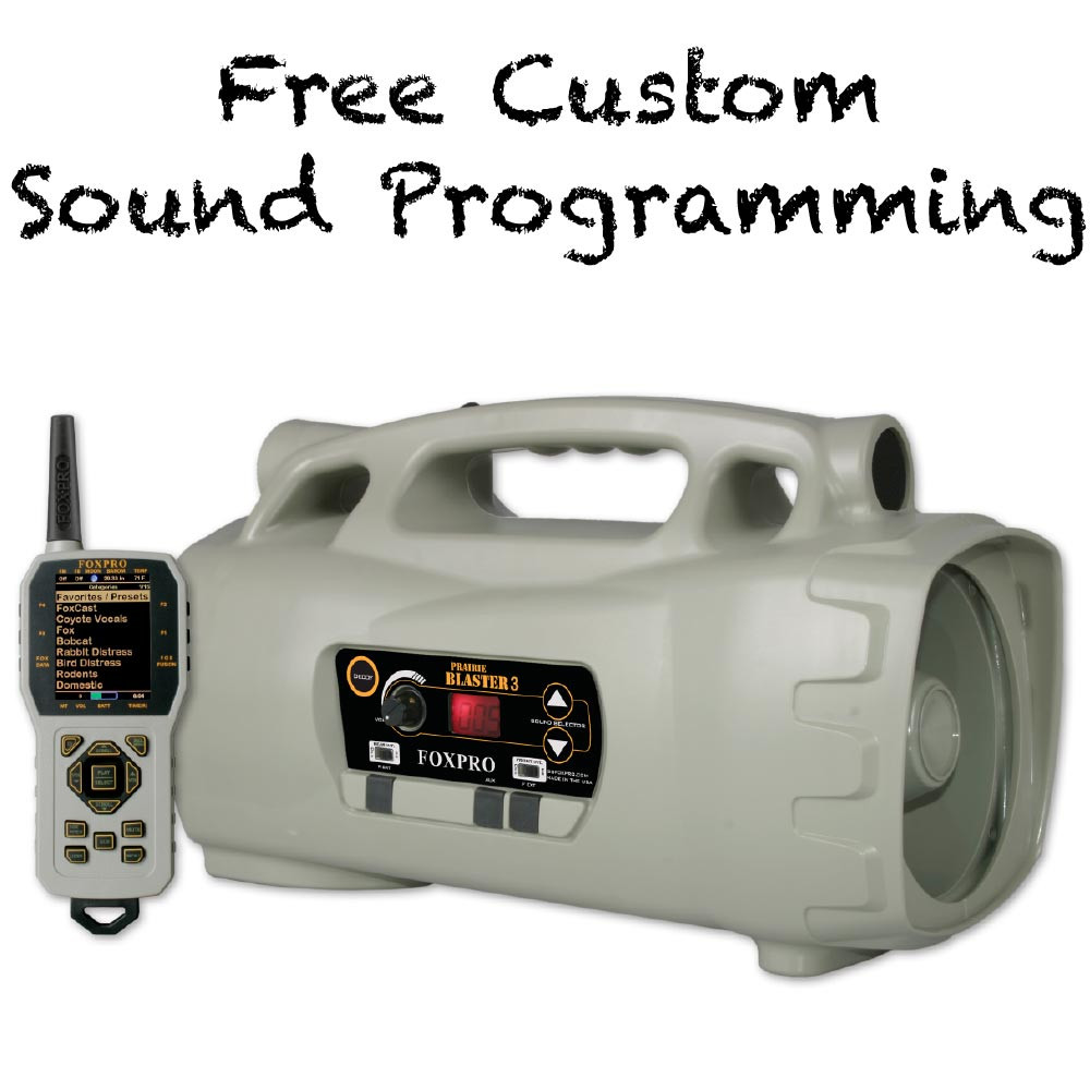 Free Custom Sound Programming on FOXPRO Prairie Blaster 3