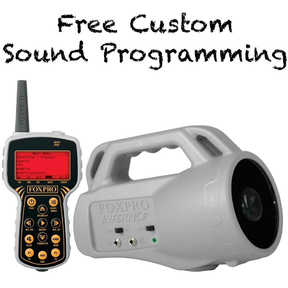 Free Custom Sound Programming on FOXPRO Inferno refurb