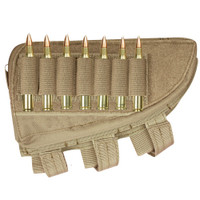 Butt Stock Cheek Rest with Storage Pouch and Cartridge Loops